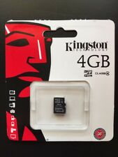 BRAND NEW,Kingston Digital 4GB microSDHC Class 4 Flash Memory Card *@