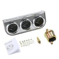 3in1 Oil Pressure Gauge Meter Water Temperature Gauge Voltmeter w/ Sensor M0U0
