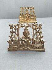 Vintage Brass Expandable Art Nouveau Scholar Bookrack Bookends Judd 9823