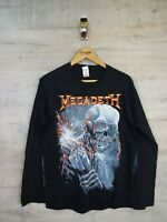 official 90s style Megadeth tour metal rock Music Graphic Vtg T shirt refA13 med