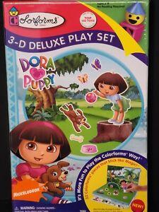 Colorforms 3-D Deluxe Play Set Dora the Explorer DORA ❤ PUPPY 2009.   BIN Q