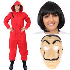 Damas Mono Con Capucha Heist Rojo Tv Disfraz De Halloween Cosplay Vestido de fantasía