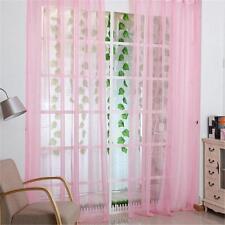 Pink Room Tulle Door Window Curtain Balcony Drape Panel Sheer Scarf Valance A#