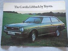Toyota Corolla Liftback brochure Jul 1977