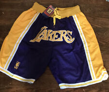 Lakers Basketball Team Shorts Lebron James Summer League Mens Sz Large