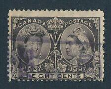 CANADA 1897 USED 8 cents JUBILEE #56, QUEEN VICTORIA !! E36
