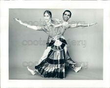 1973 Press Photo Natraj Rajaram & Tamara Heitler Bharata Natyam Dance