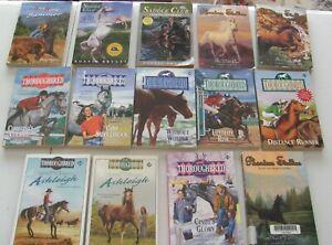 Lot of Thoroughbred Phantom Stallion Saddle Club + Wild Horse Summer 14 books