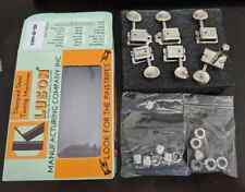 Kluson 6 in line locking deluxe vintage tuners plus adapter bushings KDL-6B-NMDR