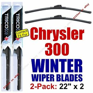 WINTER Wiper Blades 2-Pack Super-Premium fit 2005-2010 Chrysler 300 - 35220x2