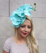a0d753050ba73 MINT Green Turquoise Orchid Flower Fascinator Hat Hair Clip Races Wedding  3251