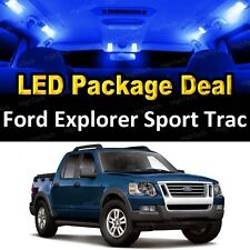 8x Blue LED Interior Package Kit + License Plate 2006- 2010 Explorer Sport Trac