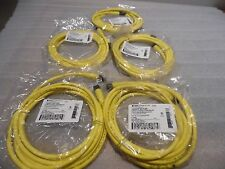 BRAD Connectivity 773030K02F090 MIC 3P M/MFE ST/ST 9' 18/3 TPE Cord Lot of 5 New