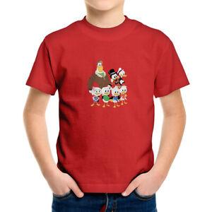 Toddler Kids Tee Youth T-Shirt Cute Scrooge McDuck DuckTales Huey Dewey Louie
