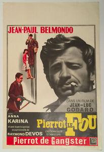 Affiche PIERROT LE FOU - Belmondo, Godard