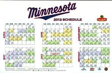 2012 Minnesota Twins Magnet Schedule 8 x 5 Inches