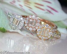 Echte Diamanten-Ringe aus Gelbgold mit Brilliantschliff für Damen