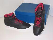 Reebok FS Hi Ultralite Black Leather Freestyle Fitness Training Shoes Womens 9.5