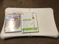 Wii Fit Balance Board + Wii Fit & Lumberjack Game