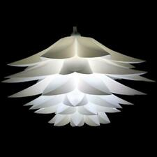 Plug In Hanging Ceiling Lamp Swag Pendant Light Lotus Flower Lamp Shade (White)