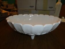 Indiana Glass White Milk Glass Footed Fruit Bowl