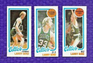 1980-81 TOPPS BASKETBALL  #30, 31, 34  SEPERATED LARRY BIRD BOSTON CELTICS