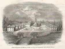 A5220 Mattrey - Colonia agricola - Xilografia - Stampa Antica 1842 - Engraving