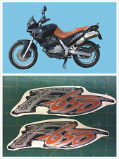 Adesivi fianchetti BMW F 650 mod. nera  - adesivi/adhesives/stickers/decal