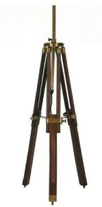 Dark Wood Tripod Table Lamp - 50% Off