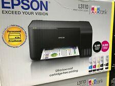 More details for epson ecotank et-l3110 colour inkjet all-in-one printer - black