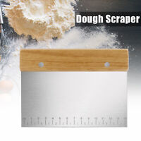 Stainless Steel Dough Bench Scraper Pastry Cake Pizza Bread Cutter Kitchen Tool