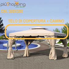 TELO TOP COPERTURA RICAMBIO PER GAZEBO 3X3 DA GIARDINO ANTIPIOGGIA PVC CAMINO