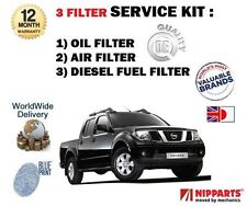 Per NISSAN NAVARA Pick-up 2.5 DT D40 6/2006 - > NUOVO Olio Aria Carburante Filtro Servizio Kit