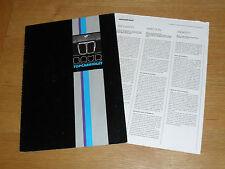 BMW 3 Series E21 Baur Cabriolet Brochure 1978-1980