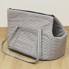 Brown Striped Pet Travel Carrier Hand/Tote/Shoulder Bag for Dog/Puppy/Cat/Kitten