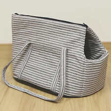 Brown Striped Pet Travel Carrier Hand/Tote/Shoulder Bag for Dog/Puppy/Cat/Kitten
