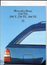 MERCEDES BENZ 250 TD, 200 T, 230 TE AND 300 TE SALES BROCHURE DEC. 1986 jm