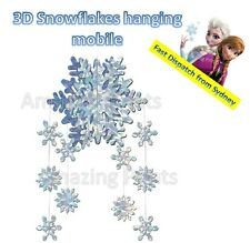 Hanging 3D Snowflake Mobile BE20190 Party Decoration Christmas Ceiling Swirling