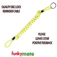 DISCLOCK REMINDER CABLE DISK LOW PRICE STEEL BRAND NEW STRETCH HI VIZ QUALITY