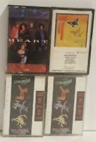 HEART Lot of 4 Cassette Tapes, 2-Bad Animals, Dog & Butterfly, Self Titled