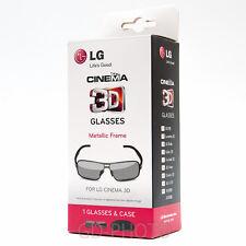 NEW LG AG-F350 3D Glasses Metallic Frame for LG Cinema TV Lunnettes Brille Gafas