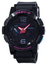 Casio Baby-G Shock Resistant Tide Graph Analog Digital BGA-180-1B Womens Watch
