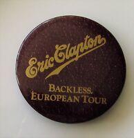 ERIC CLAPTON BACKLESS EUROPEAN TOUR 1978 LARGE VINTAGE METAL PIN BADGE E.C