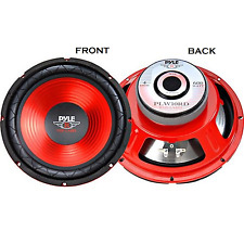 "Pyle Pro Audio Subwoofer Car Stereo Component 10"" 300W Red Cone High Performance"