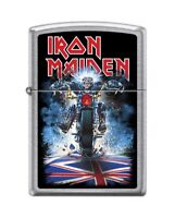 Zippo 8945 Iron Maiden Street Chrome Finish Full Size Lighter