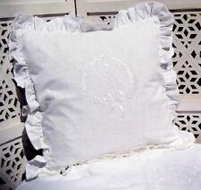 Kissenbezug AMALIE WEISS 45x45 bestickt LillaBelle Vintage Shabby Chic Landhaus