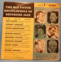 """RCA VICTOR ENCYCLOPEDIA OF RECORDED JAZZ ALBUM 1 10"""" LP '56 GREAT COND! VG+/VG!!"""