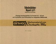 Schulmädchen-Report 9. Teil ORIGINAL Umschlag Puppa Armbruster / EROTIK-KULT