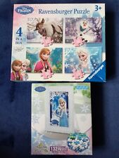 2x Frozen Jigsaw Puzzles Elsa clear frame & 4 in a box Anna 2014