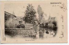SOMMEVOIRE  Haute Marne CPA 52 Vue de la voire - carte nuage 1900